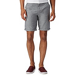 Red Herring - Grey textured chino shorts