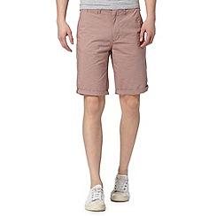 Red Herring - Dark red fine striped shorts