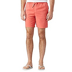 Red Herring - Red acid wash beach shorts