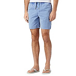 Red Herring - Blue acid wash beach shorts