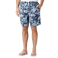 Red Herring - Blue floral beach shorts