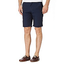 Red Herring - Navy mini jacquard chino shorts