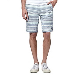 Red Herring - Blue horizontal striped shorts