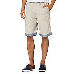 Red Herring - Natural contrast turn up chino shorts
