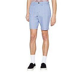 St George by Duffer - Big and tall blue plain cargo shorts