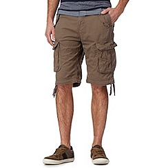 St George by Duffer - Light brown plain cargo shorts
