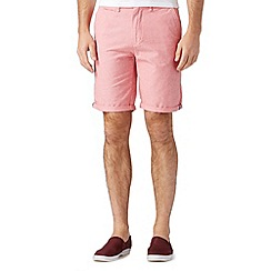 Red Herring - Bright red oxford chino shorts