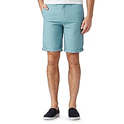 Red Herring - Big and tall turquoise oxford chino shorts