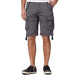 St George by Duffer - Navy fine dot cargo shorts