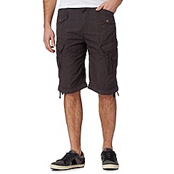 FFP - Dark grey checked cargo shorts