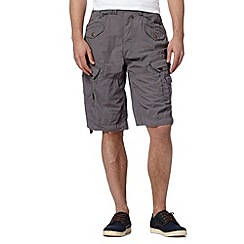 FFP - Grey micro checked cargo shorts