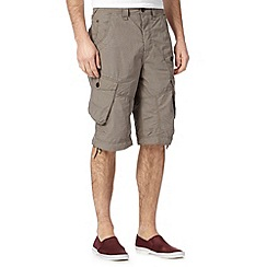 FFP - Big and tall brown dogtooth cargo shorts