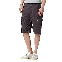 FFP - Big and tall dark grey pocket cargo shorts