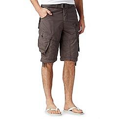 FFP - Khaki belted cargo shorts