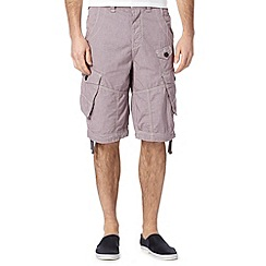 FFP - Red dogtooth cargo shorts