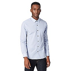 Red Herring - Blue gingham checked long sleeved shirt