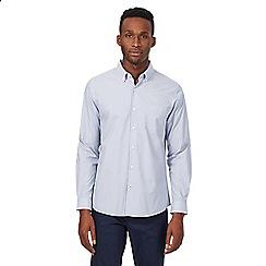Red Herring - Blue fine striped long sleeved shirt