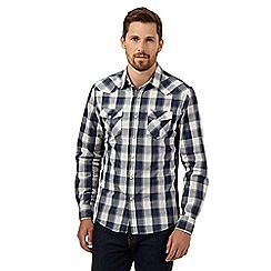 Red Herring - Navy western checked shirt