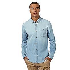 Red Herring - Light blue long-sleeved denim effect shirt