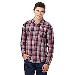 Red Herring - Red western herringbone checked shirt