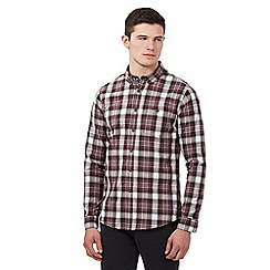 Red Herring - Dark red large check shirt