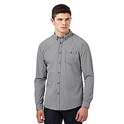 Red Herring - Navy gingham button down collar shirt