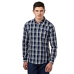 Red Herring - Navy western herringbone checked shirt