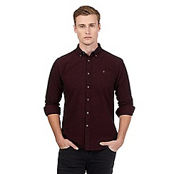 Red Herring - Dark red brushed shirt