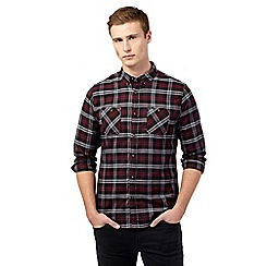 Red Herring - Wine check patch pocket shirt