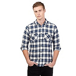 Red Herring - Navy checkered shirt