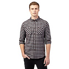Red Herring - Maroon mid gingham print shirt
