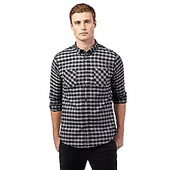 Red Herring - Black mid gingham print shirt