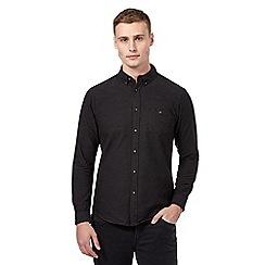 Red Herring - Black textured casual shirt