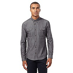 Red Herring - Grey mini jacquard diamond print shirt