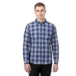 Red Herring - Navy checked casual shirt