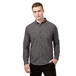 Red Herring - Dark grey textured casual shirt