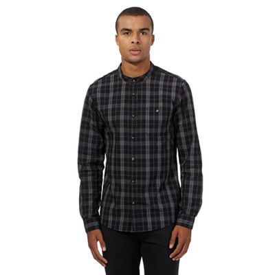 Red Herring Black grandad check shirt