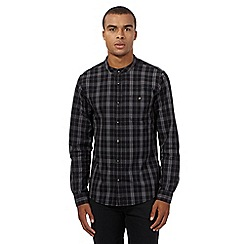 Red Herring - Black grandad check shirt