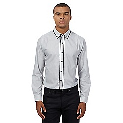 Red Herring - White and black striped shirt