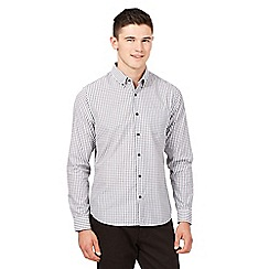 Red Herring - Grey gingham slim fit shirt