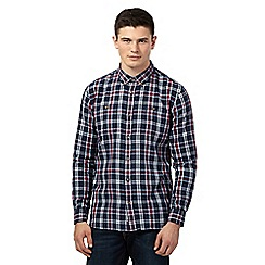 St George by Duffer - Big and tall navy grid shirt