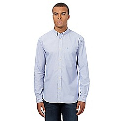St George by Duffer - Big and tall blue striped shirt