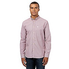 St George by Duffer - Dark red gingham shirt