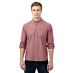 St George by Duffer - Big and tall red ditsy print shirt
