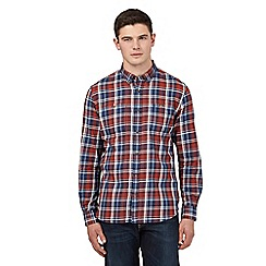 St George by Duffer - Big and tall red buttoned check shirt