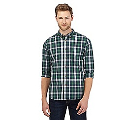 St George by Duffer - Big and tall green tartan shirt