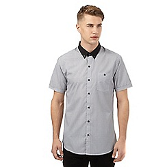 Red Herring - White contrast collar short sleeved shirt