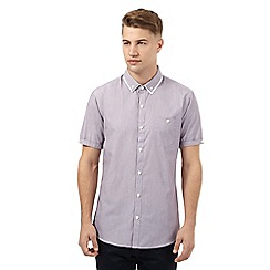 Red Herring - Red needle stripe short sleeved shirt