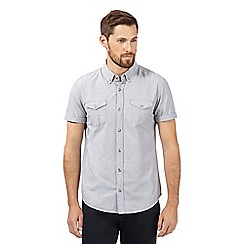 Red Herring - Grey textured striped short sleeved shirt