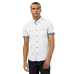 Red Herring - White dotted checked short sleeved shirt